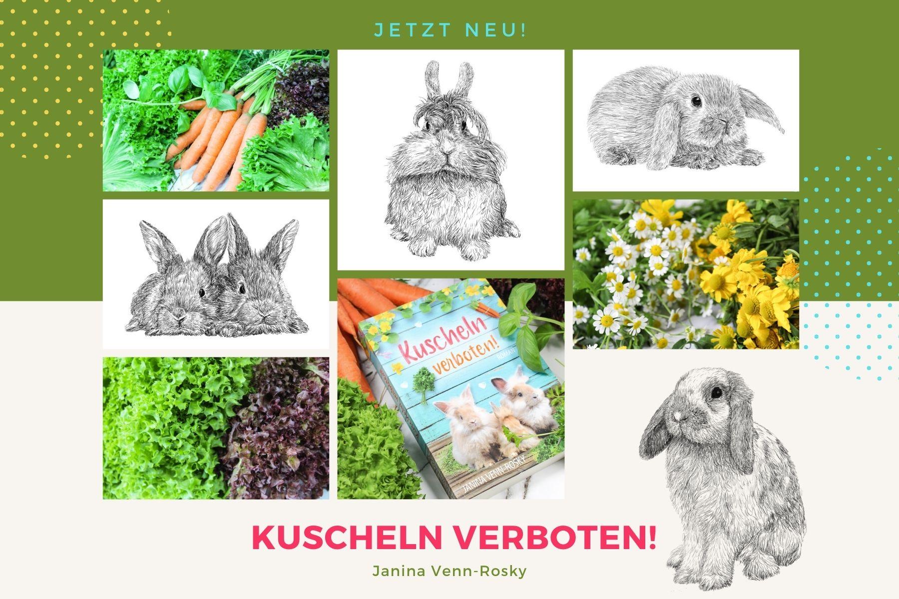 Kuscheln verboten! – der neue illustrierteRoman von Janina Venn-Rosky