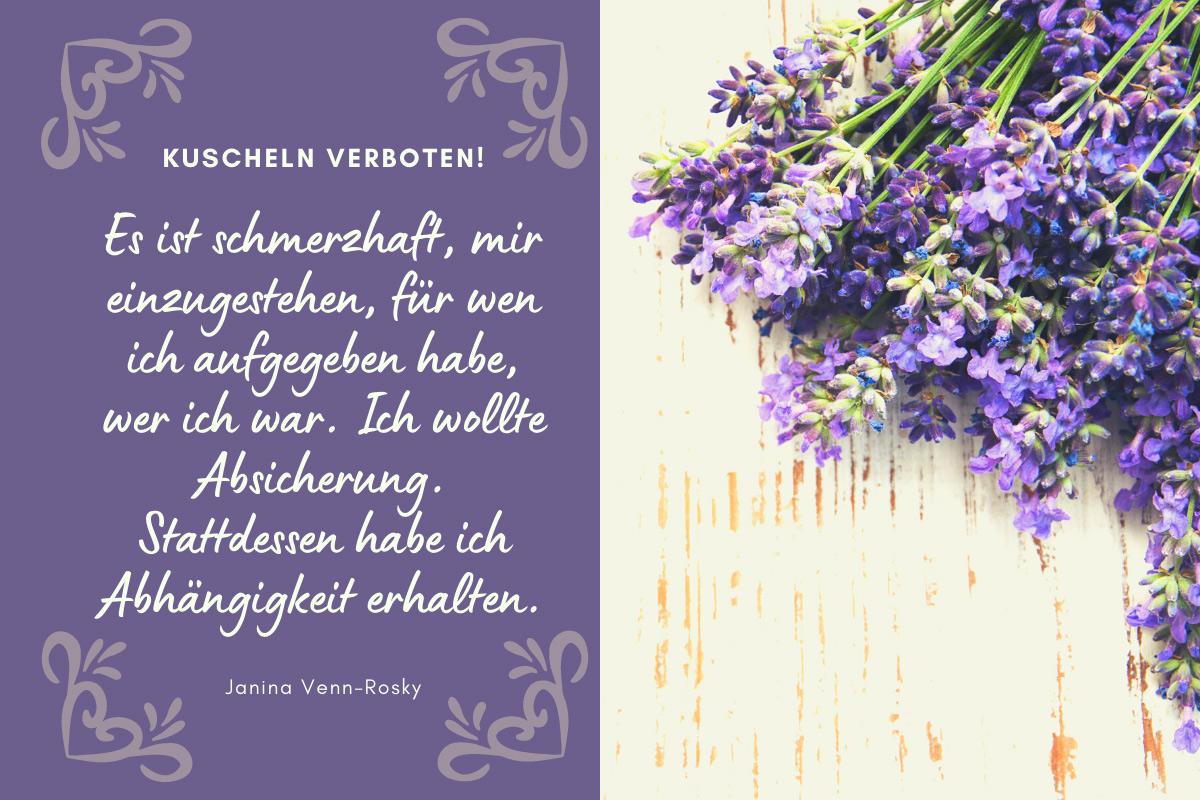 Kuscheln verboten! gefühlvolle Lesestunden mit Janina Venn-Rosky